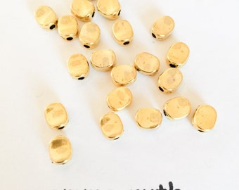 100 Large Hole Beads Gold Spacer Beads Gold Tibetan Beads Lead Free Round 1.5 mm Hole Beads Jewelry Making Supplies Wholesale lot of 100