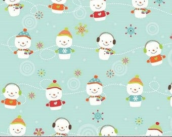 Riley Blake Colorful Christmas Snowmen by Mind's Eye C7083--1/2 yard