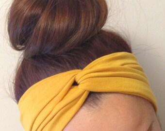 Mustard Yellow Turban Style Headband
