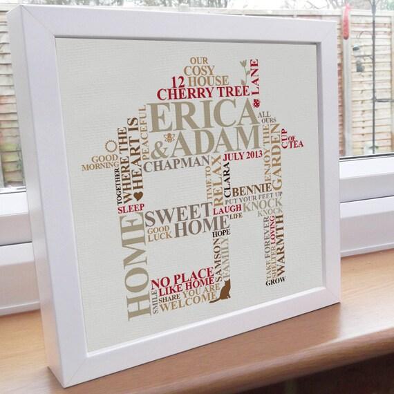 Framed Housewarming Print New Home Gift By Alichappelluk
