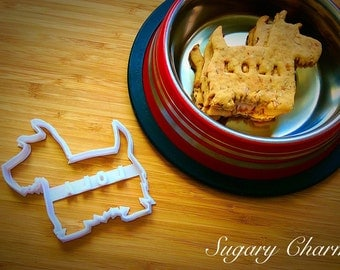 Personalized Scottie dog cookie cutter