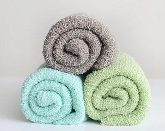 Stretch Knit Wraps, Green Knit Wrap, Aqua Knit Wrap, Newborn Knit Wrap, Photography Knit Wrap, Knit Wrap, Photography Prop, Newborn Prop