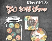 Embark in the Service of God - 2015 Young Women Theme - Chocolate Kiss Gift Set - Includes gift tags, mason jar toppers and kiss stickers