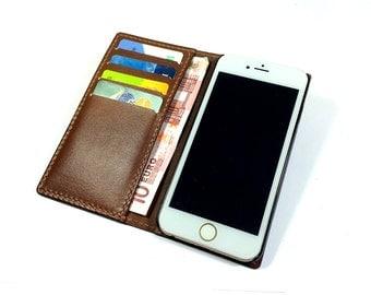 iPhone 6S case wallet- iPhone 6S Plus wallet- Handmade iPhone 6 Plus case