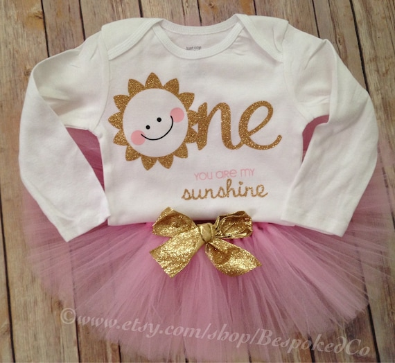Items Similar To You Are My Sunshine First Birthday Outfit