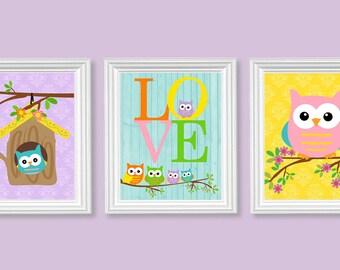 owl nursery art baby girl decor girls room art owl canvas art canvas prints baby art prints baby decor canvas wall art baby owl art