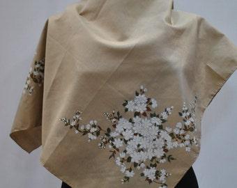 Vintage printed silk scarf....(783)