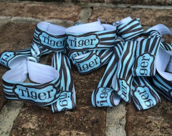 Create Your Own-  - Cheer Team Colors - Personalized Hair Ties - No Tug Custom Hair Ties Printed Monogram - Custom Print Hair Bands