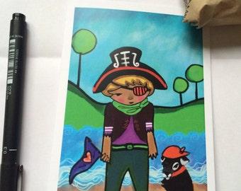 GREETING CARD Boy Portrait
