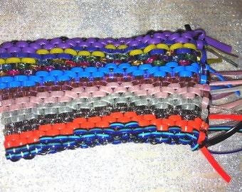 Lanyard Superbrick Wall Art Objects, Multicolored Boondoggle Gimp Scoubidou