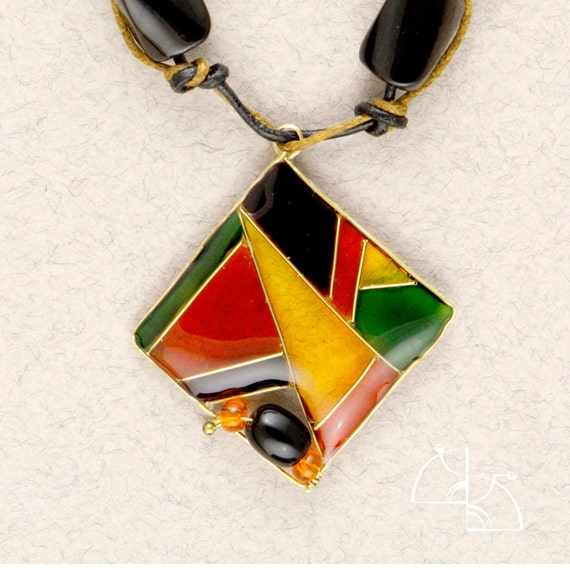 Bright geometry. Unusual,great, geometric Pendant. Colorful abstract pendant. Modern style