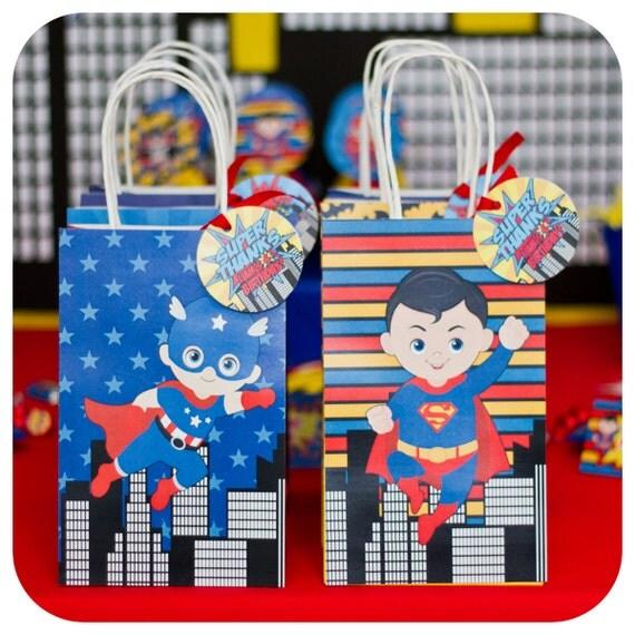 Superhero Party; Superheroes Birthday Party Favor Gift