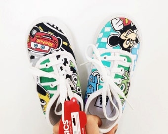 Customized VANS sneakers with your Toddler/Infant's favorites things!