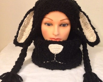 Adults/Kids/toddlers Set of Sheep Hat and Cowl