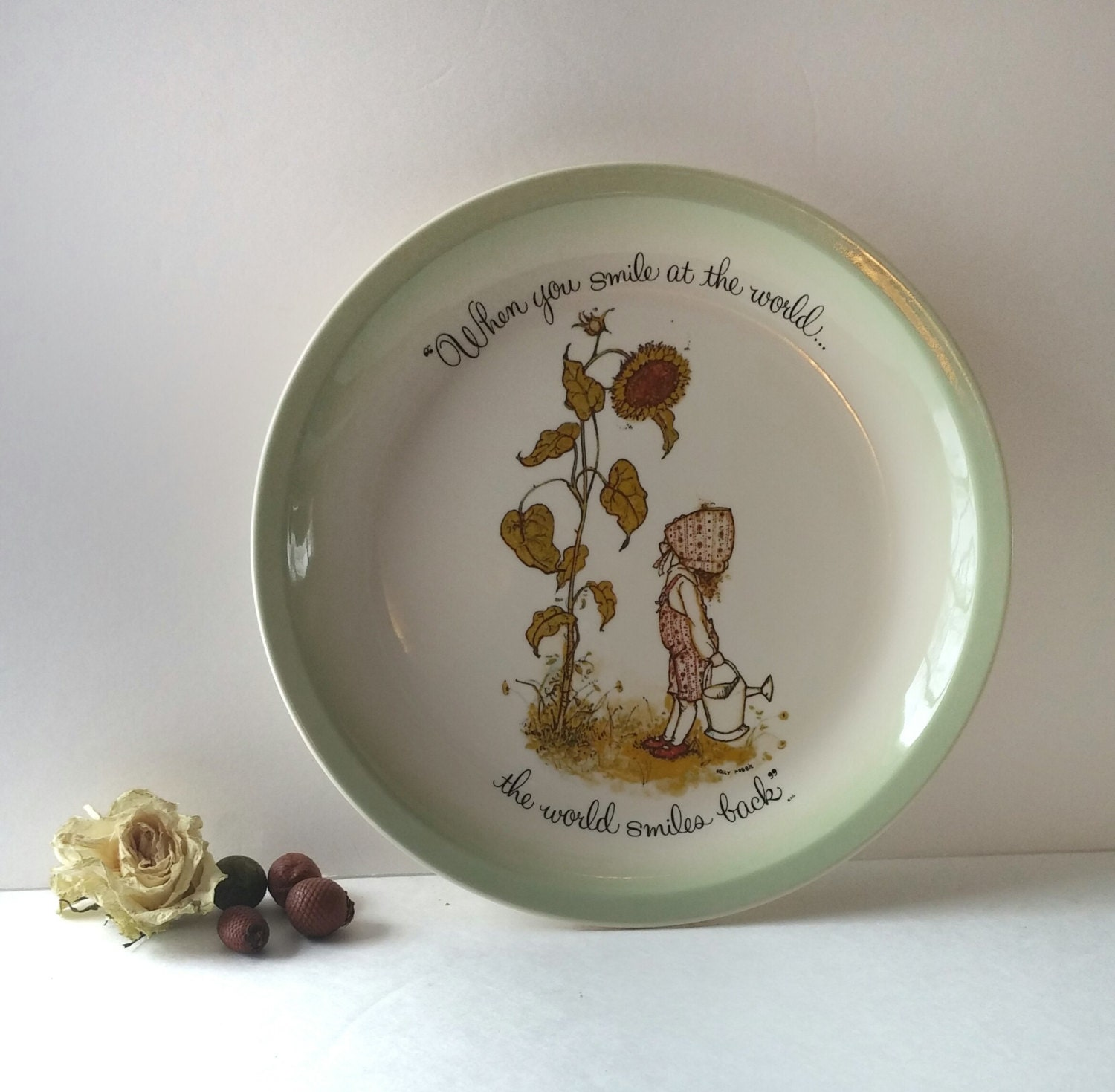Ceramic decorative plate vintage wall plate wall hanging for Decorative wall dishes