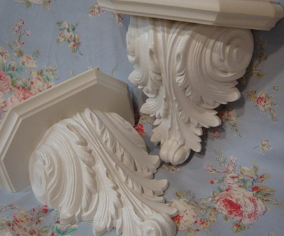 Corbel Shelf Set Shabby Chic Wall Sconce Shelf By