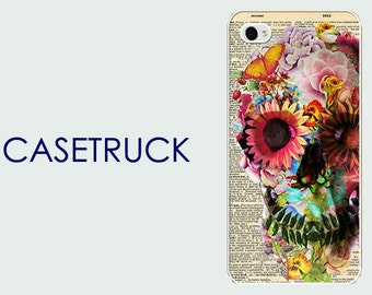Sugar Skull Day of the Dead Flower iPhone 4 4S 5 5s 5c 6 6S 6+ 6 Plus 7 Custom Case Cover Hard Plastic Rubber Silicone R68