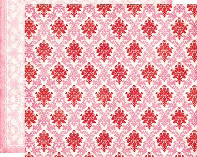 2 Sheets of Echo Park Paper LOVE STORY 12x12 Valentine's Day Scrapbook Paper - My Love