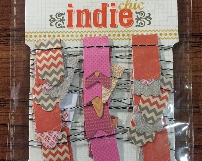 """My Mind's Eye INDIE CHIC Saffron """"Girl"""" Small Paper Garland (2 yards)"""