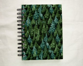 Forest Fabric-Covered Notebook