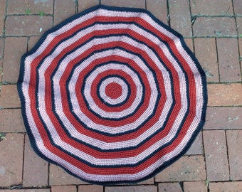 "Area Rug, Floor Mat, 31"", indoor/outdoor, crochet"