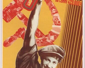 Russian, Lenin, Posters, Stalin, Russia, Communism, Propaganda poster, Soviet, Poster, Soviet poster, Wall decor, Propaganda, USSR, 576