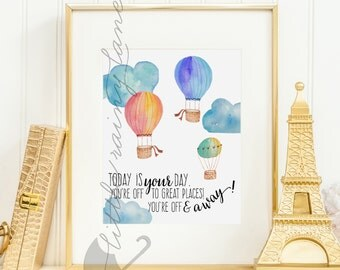 Oh The Places You'll Go - Nursery Decor - Dr. Seuss