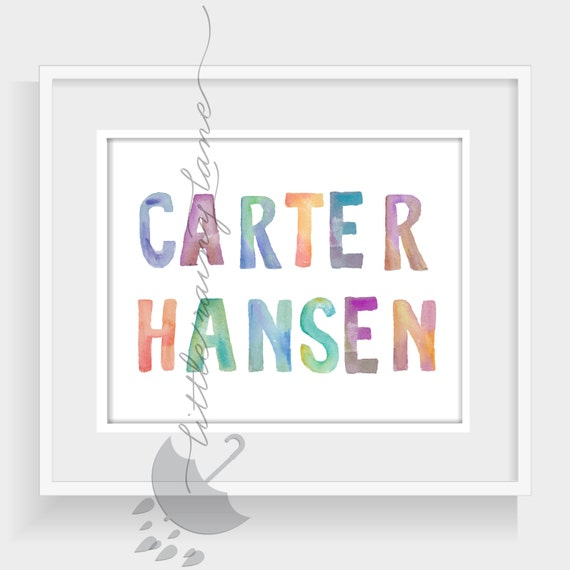 Etsy Personalized Wall Decor : Items similar to baby name wall art personalized