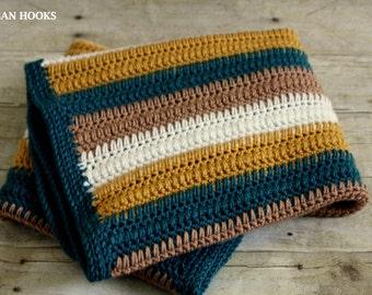 Crochet Blanket PATTERN-Dream Waves-Instant Download PDF