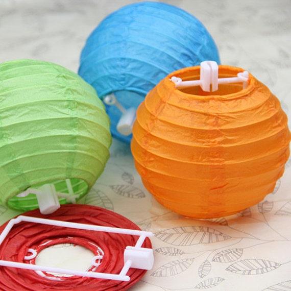"Paper Lanterns Ottawa Wholesale Weddings By Pritchard: Items Similar To Paper Lanterns 100pcs 4"" Ball Candy Color"