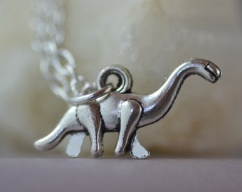 Dinosaur Necklace, Brontosaurus, ND003