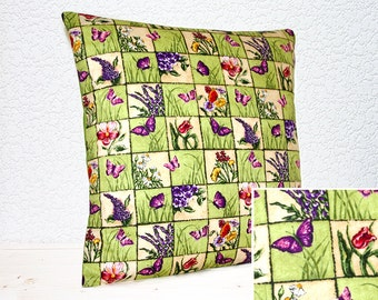 "Handmade Butterfly Garden/Flora and Fauna Collage Effect Pillow Cushion Covers 16""x16""/18"" x18"" (indoor)"