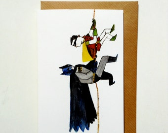 Batman And Robin Greetings Card
