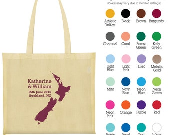 Cotton Tote Bags (C1003) New Zealand - Custom Wedding Tote - Wedding Favors - Personalized Tote Bags - Wedding Canvas Bags