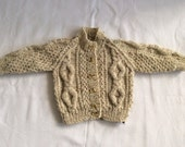 Scottish Aran cardigan for children