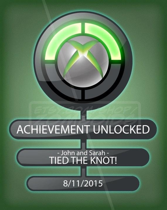 custom xbox achievement unlocked print 8x10 choose by zomboids