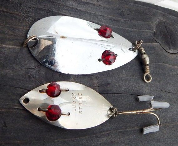 Vintage Lucky Strike & ALW Ruby Red Glass Eye Muskie by ...
