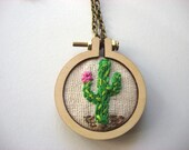 Saguaro Hand Embroidered Necklace
