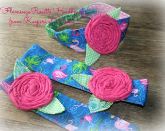 Pink Flamingo Fabric Headbands from Keepers at Home