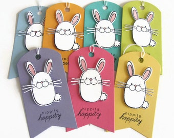 Sassy scraps crafts etsy easter bunny gift tags easter favor tags easter tags easter bunny tags negle Choice Image