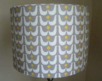 Swedish Swans Handmade Drum Lampshade