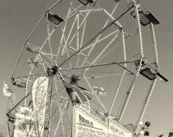 The big wheel. A card featuring an original photograph. Blank inside.  Notelet.