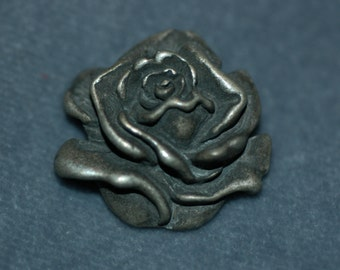 """Rose Button. Pewter button. Size 1"""""""