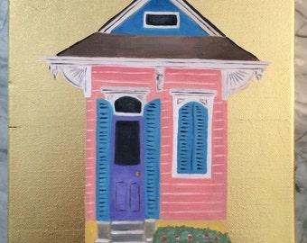 Shotgun House oil painting