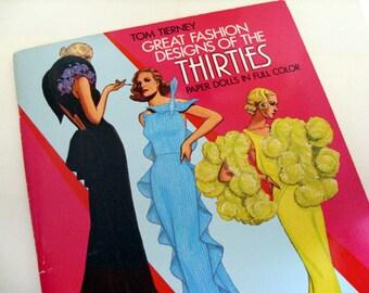 Paper Dolls - Great Fashion Designs of the Thirties, Tom Tierney, 1930s haute couture, Art Deco, fashion history, vintage fashion ephemera