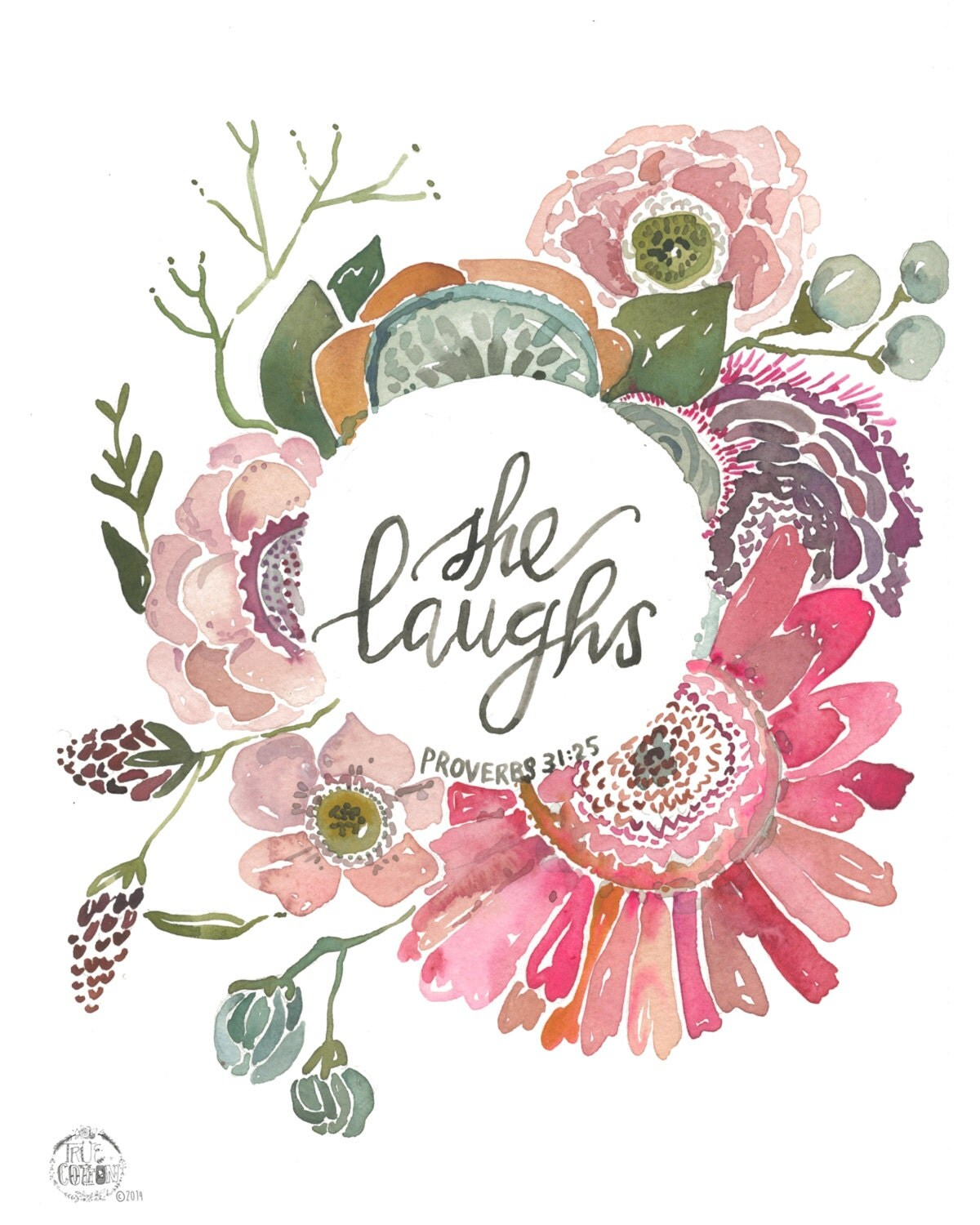She Laughs Proverbs 31 25 Print By Truecotton On Etsy