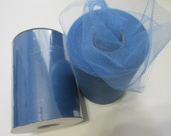 Smoke Blue Tulle Fabric 100 Yards