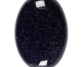 40mm Sparkly Blue sandstone goldstone oval cab cabochon