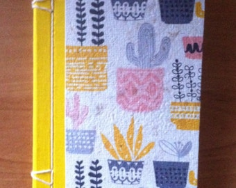 Gardening notebook made from recycled paper