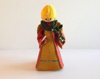 Vintage Burlap Christmas Angel - Christmas Decoration